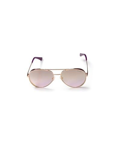 Guess  Gu 7607 28X Kadın Güneş Gözlüğü Altın